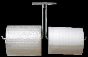 36 Double Arm Wall Mount Bubble Wrap Foam Cushioning Roll Dispenser