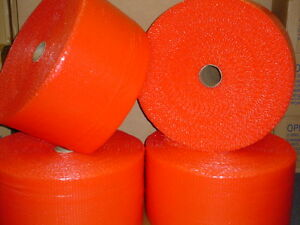 900 x12 x3 16 Red Bubble Wrap Bubblewrap Roll Small Bubbles 4 225ft Rolls