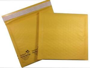 Case Of 200 7 X 7 cd Self Seal Kraft Bubble Mailers Envelopes Padded Shipping