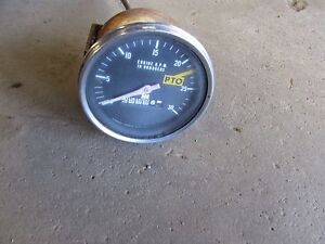 International 574 Tractor Working Tachometer