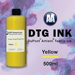 Dtg Ink Yellow 500ml Dupont Artistri Ink Best Direct To Garment Printer Ink Dtg