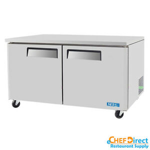 Turbo Air Muf 60 n 60 Double Door Undercounter Freezer