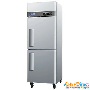 Turbo Air M3f24 2 n 28 Double Half Door Reach in Freezer