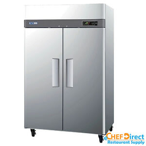 Turbo Air M3f47 2 n 52 Double Door Reach in Freezer
