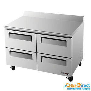 Turbo Air Twr 48sd d4 n Super Deluxe 48 Four Drawer Worktop Refrigerator