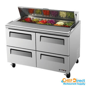 Turbo Air Tst 48sd d4 n 48 Four Drawer Sandwich Prep Table