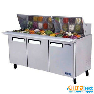 Turbo Air Mst 72 30 n 72 3 Door Mega Top Sandwich Prep Table