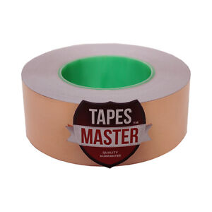 2 X 55 Yds 50mmx50m Copper Foil Tape Non conductive Adhesive Ship From Usa