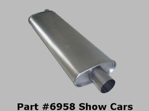 327 348 409 Chevy Impala Ss 2 1 2 In 2 1 2 Out Muffler 58 59 60 6161 62 63 64