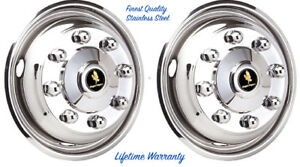 19 5 Gmc Chevy Workhorse 8 Lug Wheel Simulator Rim Liner Covers Front Set 2