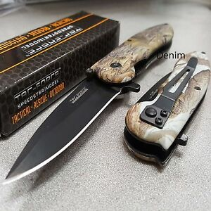 TAC FORCE Hunting Tactical Camo Spring Assisted Open Folding Pocket Knife New $9.95