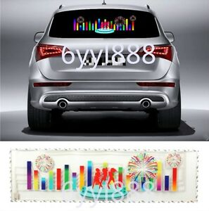 90x25cm Flash Music Rhyt1hm Led Light Lamp Sound Activated Equalizer Car Sticker