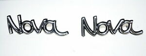 1973 To 1974 Chevrolet Nova Nos Gm Front Fender Emblem 6258150