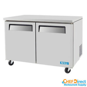 Turbo Air Muf 48 n 48 Double Door Undercounter Freezer