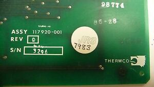 Thermco 117920 001 Rev D S n 1027 And 3296 117921 001 2 Ea Pcb Board