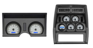 1978 82 Chevy Corvette Silver Alloy Blue Dakota Digital Vhx Analog Gauge Kit