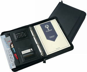 A4 Conference Portfolio Folder Case With Calculator Zip Ringbinder Organiser Pad