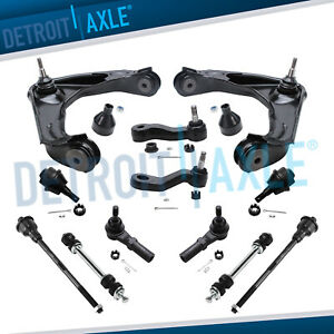 12pc Control Arm Ball Joint Sway Bar Tie Rod Kit For Silverado Hd 8 lug Only