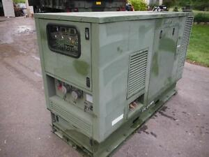 35kw Hdt Power Systems Tactical Diesel Generator 235hrs John Deere 3 Cly Turbo