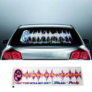 90 X 25cm Music Rythmn Sound Activated Colorful Led Lights Car Sticker