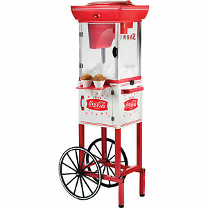 Coca cola Series 48 Snow Cone Cart Red Coke Snowcone Concession Ice Machine
