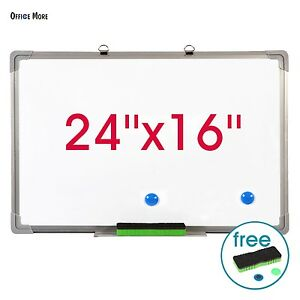 24 x16 Magnetic Dry Erase Board Writing Whiteboard With Eraser Single Side