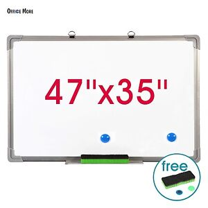 47 x35 Single Side Magnetic Dry Erase Board Writing Whiteboard With Eraser
