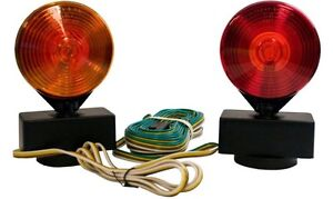 Blazer 2 Sided Amber Red Magnetic Towing Light Kit