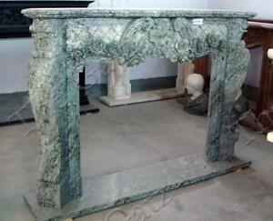 Lovely French Style Hand Carved Marble Fireplace Mantel 3858