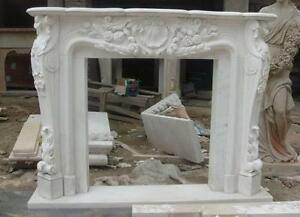 Beautiful French Style Marble Fireplace Mantel Featured In White Marble