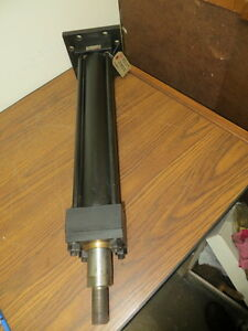 Hydro Line Inc High Pressure Hydraulic Tie Rod Cylinder Base Mounted New