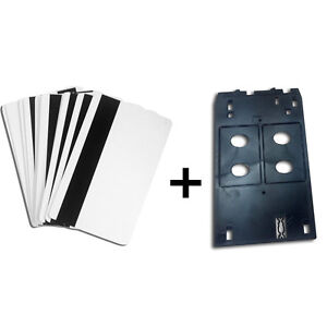 Inkjet Pvc Id Card Tray Set 100 Hico Magnetic Strip Card 1 Tray For Canon J