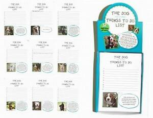 Lot Of 40 Pads things To Do List Doggy Note Pads