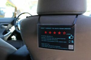 2 Uber Lyft 5 Stars Rating Decal Logo Display Signs With Custom Qr Invite Code