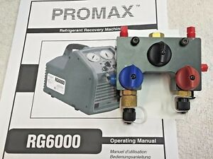 Promax Rg6000 Refrigerant Recovery Unit Front Manifold Block With Knobs Sk 6016