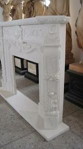 Classic French Design Marble Fireplace Mantel Hand Carved