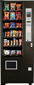 Ultra Slim Candy Chip Snack Vending Machine 24 Select Coin Bill Changer Ams