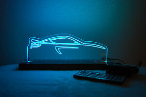 Led car Silhouette porsche gt4 gt cayman rgb custom race Car