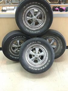 Vintage Cragar S s Wheel Set 15 W Bfg Tires Will Trade Local Pick Up Only