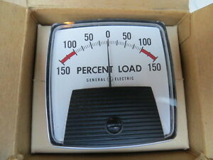 Ge General Electric Panel Meter Percent Load Meter 50 1620011lala2lnp New