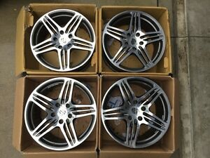 Hot Porsche Factory 19 turbo Style Rims From 997 C4s