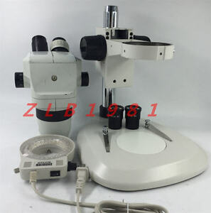 Olympus Sz4045esd Stereo Zoom Microscope With Focus Stand Led Light Wf Eyepiece