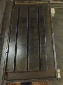 41 25 X 19 75 X 5 5 T slotted Steel Table Cast Iron T slot_jig_weld