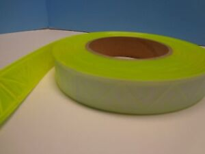Reflective Sew On High Gloss Trim Tape Yellow 1 5 50 Ft