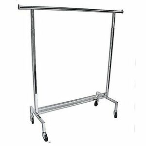 New Rolling Gown Rack Chrome Adjustable Height
