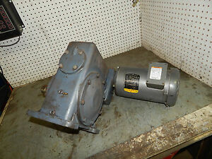 Baldor Vm3558 Motor 2hp 1725rpm 56c Frame Gear Reducer 1 8rpm Drive Speed 3ph