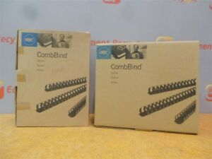 Combbind Book Binding Spines Comb 2 50mm 3 4 20mm Black New Lot
