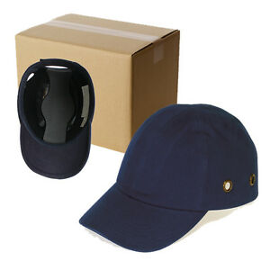 20 Blue Baseball Bump Caps Lightweight Safety Hard Hat Head Protection Caps