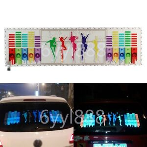 90 X 25cm Led Light Car Music Rhythm Lamp Sticker Sound Activated Equalizer Horn