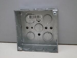 42 Steel City 521511234ew Steel Outlet Box Boxes 4 Square 1 1 2 Deep